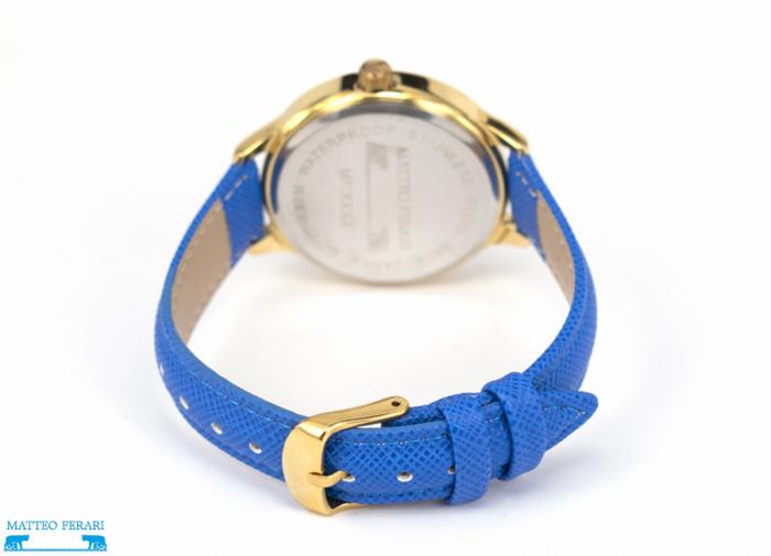 Ceas Dama Matteo Ferari Blue/Gold Casual XV [2]