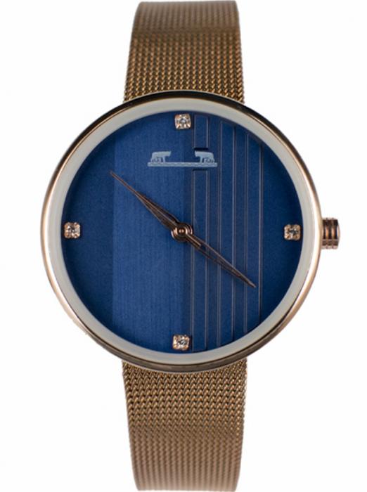 Ceas Dama Matteo Ferari Copper/Blue Casual I [0]