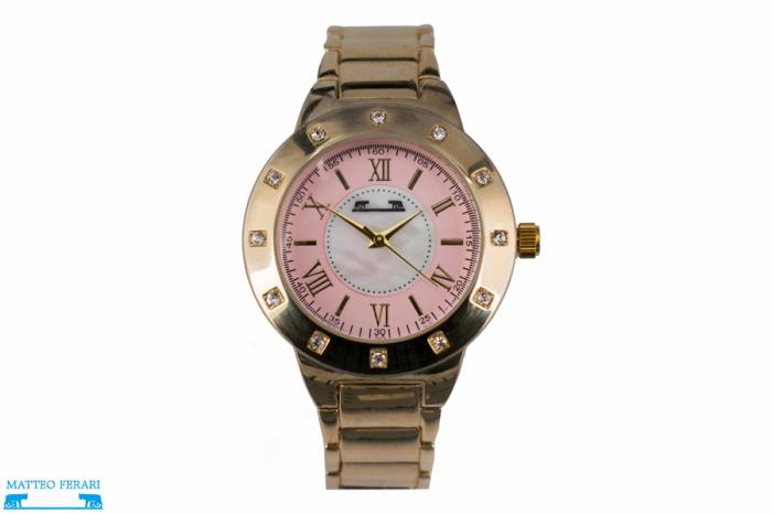 Ceas Dama Matteo Ferari Gold/Pink Elegant II [0]