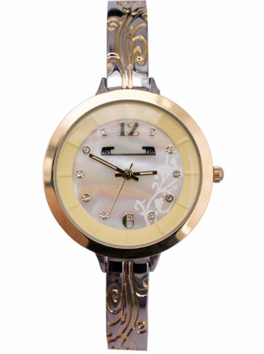Ceas Dama Matteo Ferari Gold&Silver/Cream Elegant XII [4]