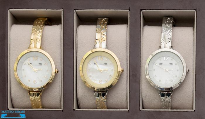 Ceas Dama Matteo Ferari Gold&Silver/Cream Elegant XII [3]