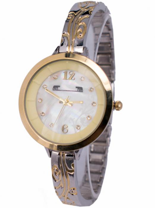 Ceas Dama Matteo Ferari Gold&Silver/Cream Elegant XII [5]