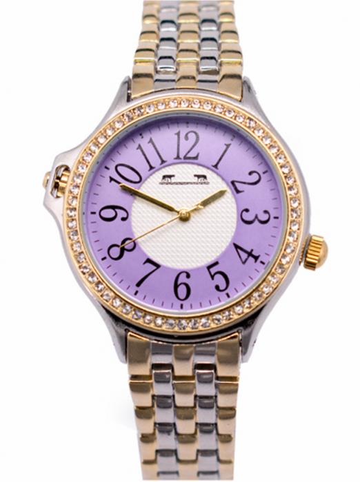Ceas Dama Matteo Ferari Gold&Silver/Purple Clasic XI [0]