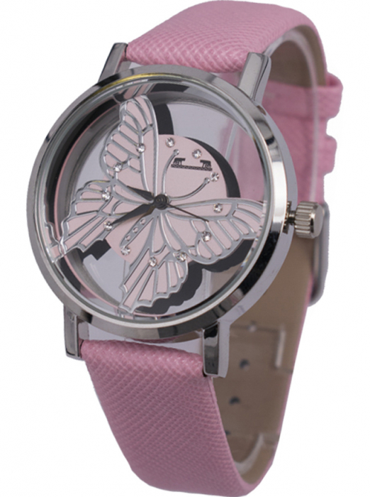 Ceas Dama Matteo Ferari Pink/Silver Casual XVII [1]
