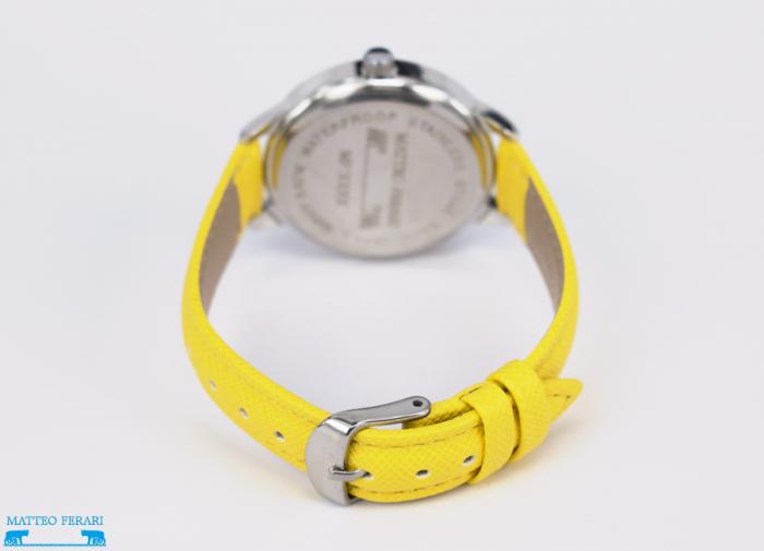 Ceas Dama Matteo Ferari Yellow/Silver Casual XV [2]