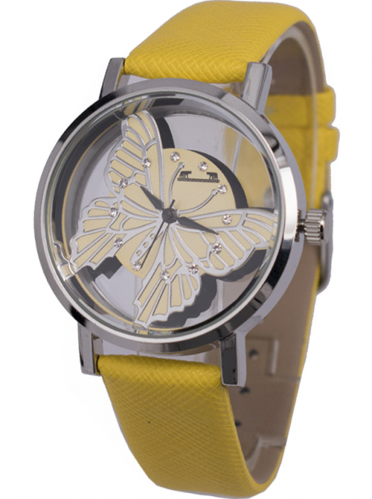 Ceas Dama Matteo Ferari Yellow/Silver Casual XVII [1]