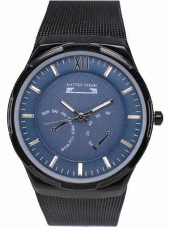 Ceas Barbatesc Matteo Ferari Black/Blue Elegant IV [0]
