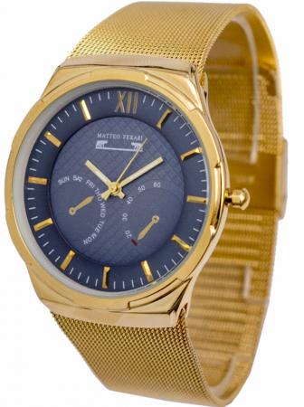 Ceas Barbatesc Matteo Ferari Gold/Blue Elegant IV [1]