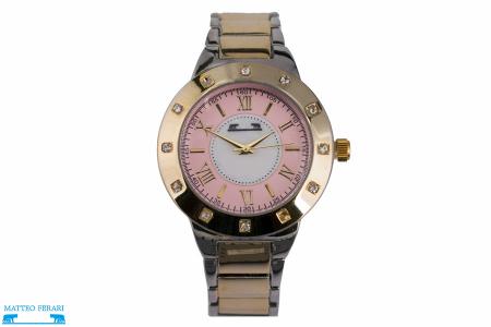 Ceas Dama Matteo Ferari Gold&Silver/Pink Elegant II [0]