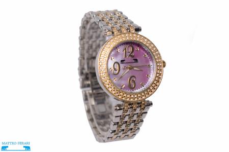 Ceas Dama Matteo Ferari Gold&Silver/Pink Elegant V [1]