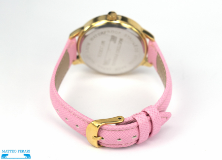 Ceas Dama Matteo Ferari Pink/Gold Casual XV [2]