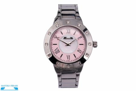 Ceas Dama Matteo Ferari Silver/Pink Elegant II [0]