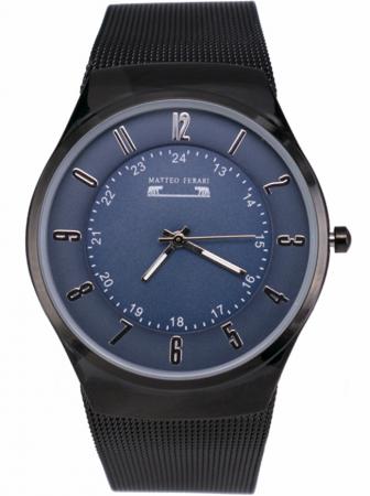 Ceas Unisex Matteo Ferari Black/Blue Elegant I [0]