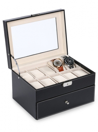 Cutie depozitare 20 ceasuri cu sertar WB20BWFF [1]