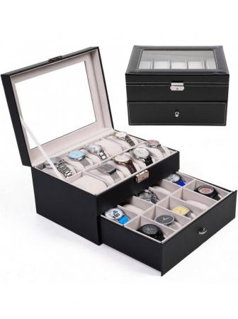 Cutie depozitare 20 ceasuri cu sertar WB20BWFF [0]