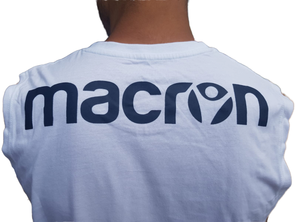 Maiou MACRON alb 3