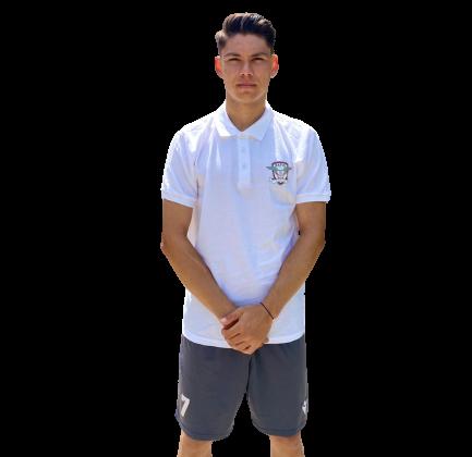Tricou POLO RAPID, bumbac, alb 1