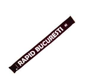 Fular tricotat cu emblema brodata - RAPID suntem NOI