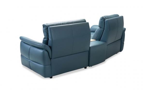 Canapea 2 locuri cu recliner si bar Oviedo 1