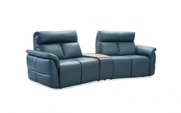 Canapea 2 locuri cu recliner si bar Oviedo 0