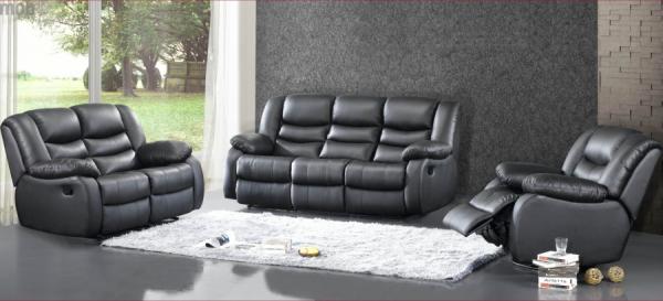 Canapea de 3 locuri Jadine cu 2 reclinere electrice si 2 sisteme de VibroMasaj 1