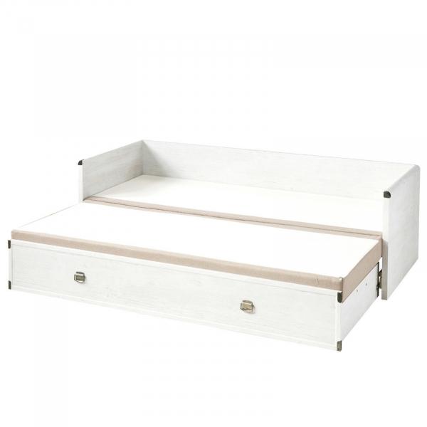 Canapea extensibila cu lada depozitare INDIANA WHITE 3