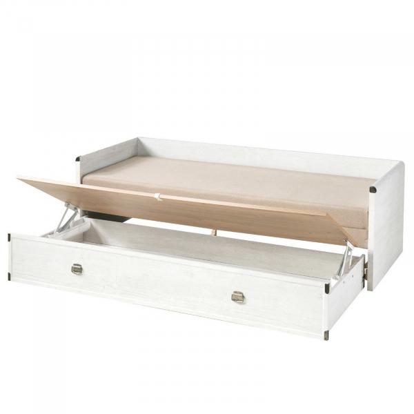 Canapea extensibila cu lada depozitare INDIANA WHITE 2