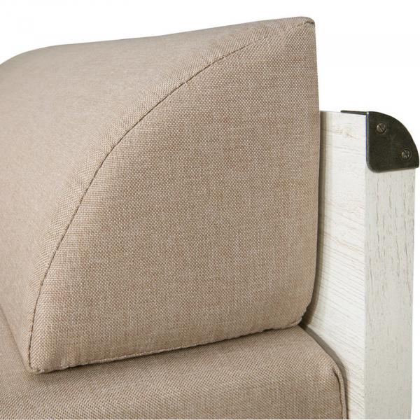 Canapea extensibila cu lada depozitare INDIANA WHITE 4