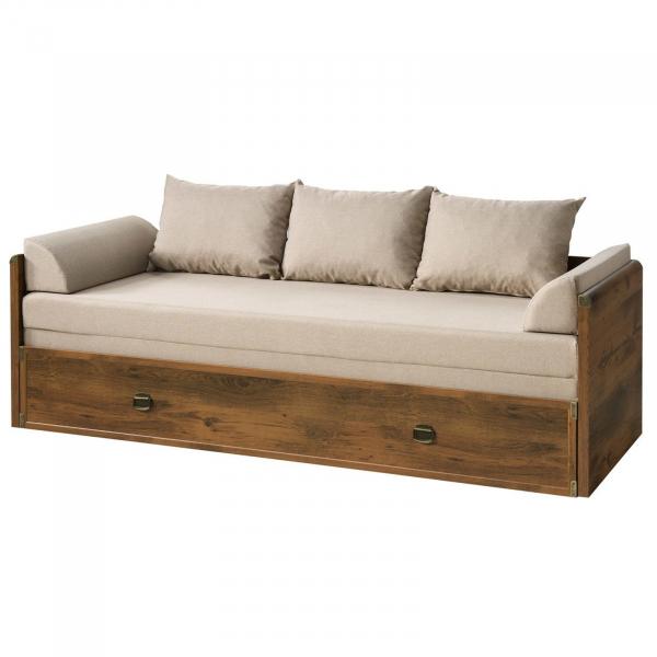 Canapea extensibila cu lada depozitare INDIANA BROWN 1