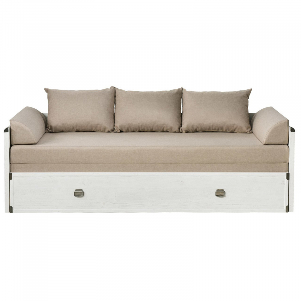 Canapea extensibila cu lada depozitare INDIANA WHITE 0