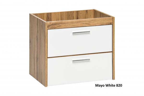 Masca cu 2 sertare Mayo White 60 cm 0
