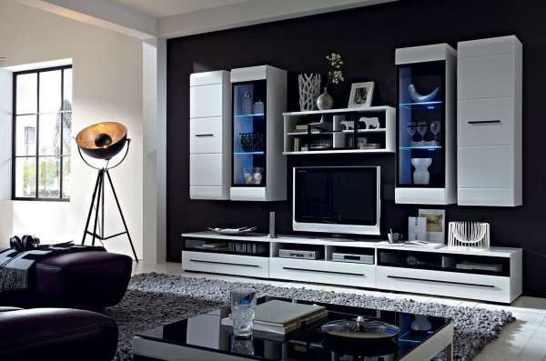 Mobilier FEVER WHITE Set living 8 piese [0]