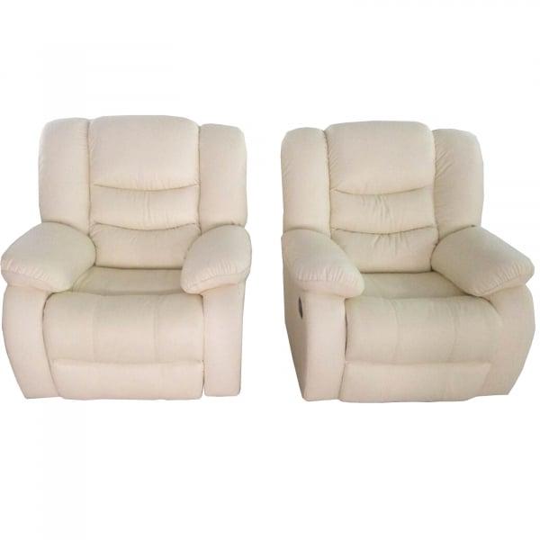 Set Canapea 2 locuri si un fotoliu cu recliner Jadine din piele 1