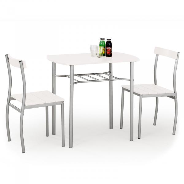 Set masa si 2 scaune LANCE WHITE 0