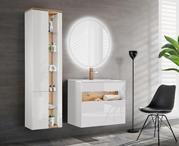 Set mobilier baie Bond White 60 cm 0