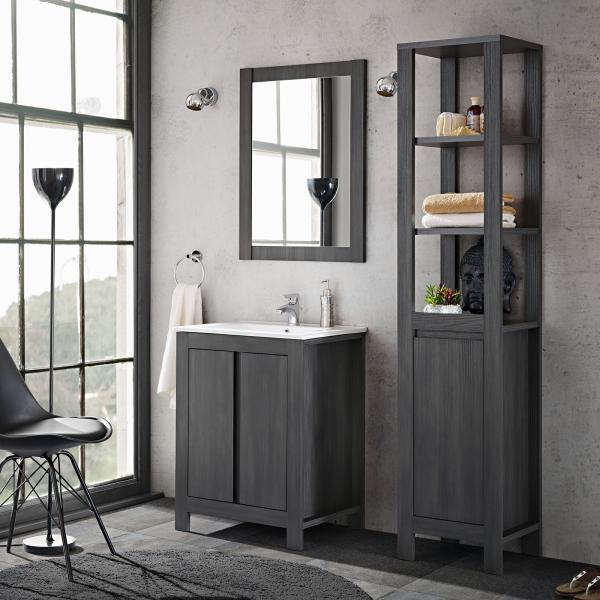 Set mobilier de baie Clasico Grey 0