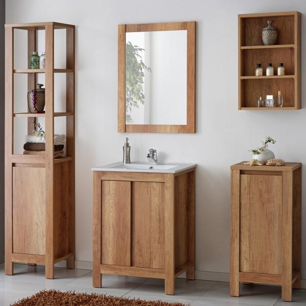 Set mobilier de baie Clasico Oak 60 cm [0]