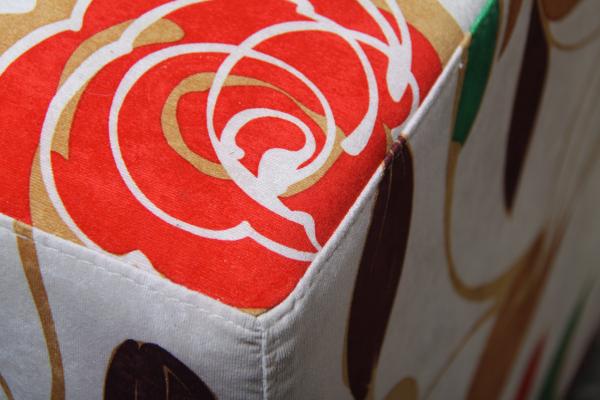 Taburet patrat Flower [1]