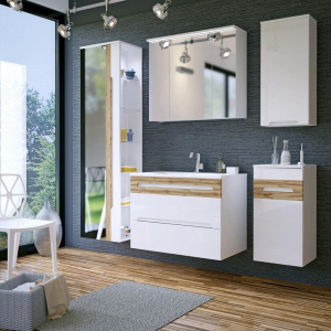 Cabinet de baie Galatea White3