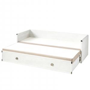 Canapea extensibila cu lada depozitare INDIANA WHITE3