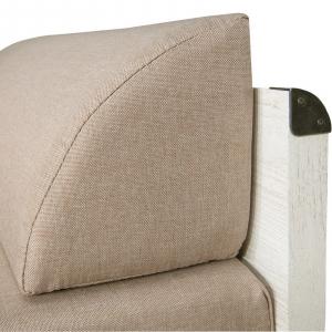 Canapea extensibila cu lada depozitare INDIANA WHITE4