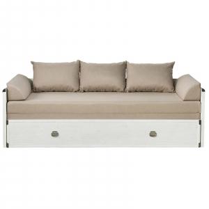 Canapea extensibila cu lada depozitare INDIANA WHITE0