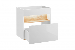 Masca cu 1 sertar Bond White 60 cm [0]