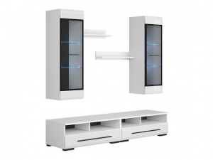 Mobilier FEVER WHITE Set living 5 piese2