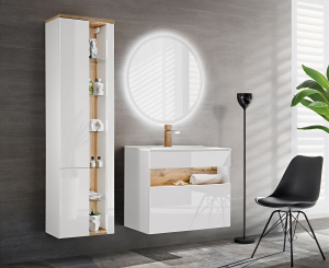 Set mobilier baie Bond White 60 cm0