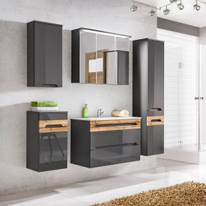 Cabinet de baie Galatea Grey1