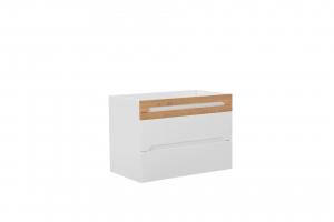 Set mobilier de baie Galatea White 80 cm3