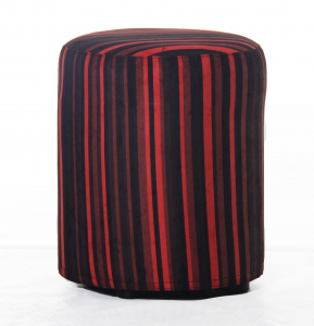 Taburet rotund Red Lines0