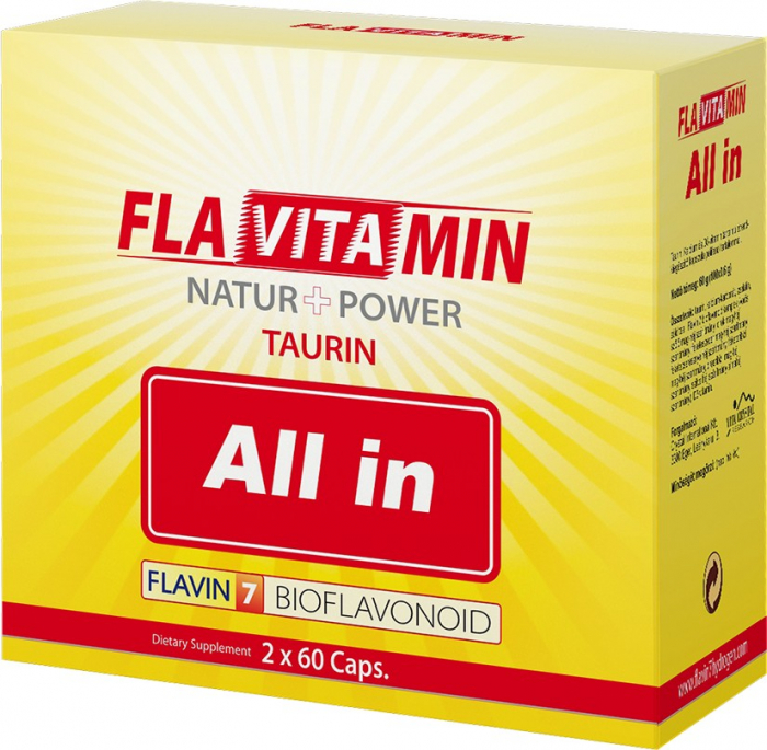 Flavitamin Taurină All In 2 x 60 capsule 0