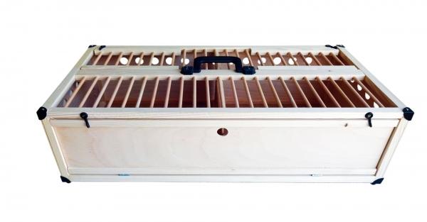 Cușcă pentru transport porumbei 80x40x25 cu 2 compartimente 0
